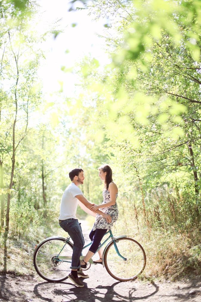 a sweet bike engagement