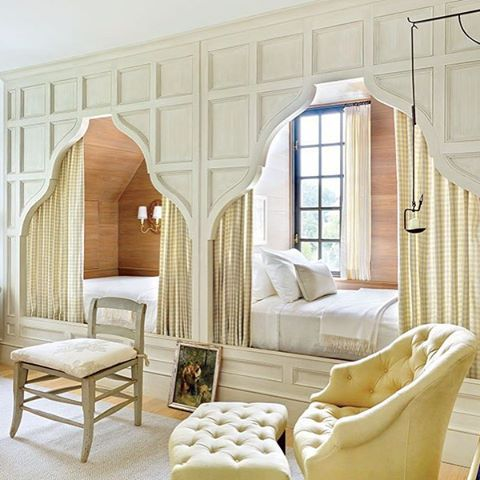From One Of Our Publications In   A Pair Of Fanciful Paneled Bed Niches.