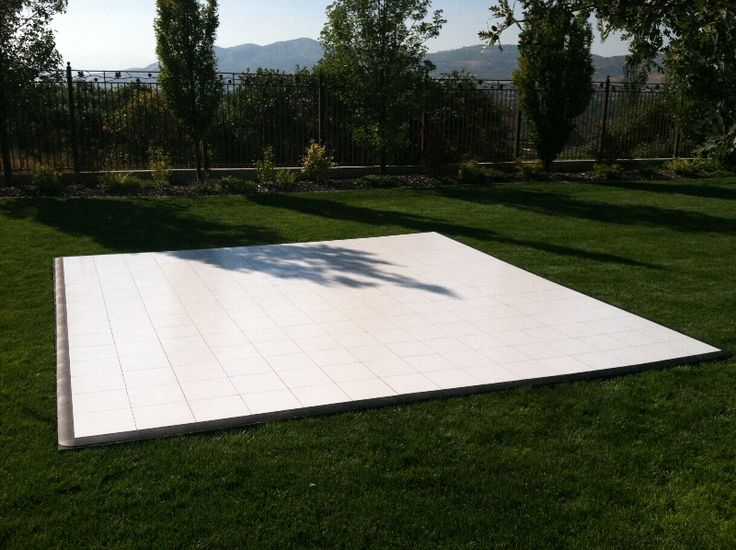 """Salt Lake City Party Rentals -All Out Tent and Event. The all white dance floor is a must for the chic, sophisticated wedding. Nothing says """"black tie"""" like a white floor. Check out more flooring and stage options at eventrentalutah.com or follow our board on Pinterest"""