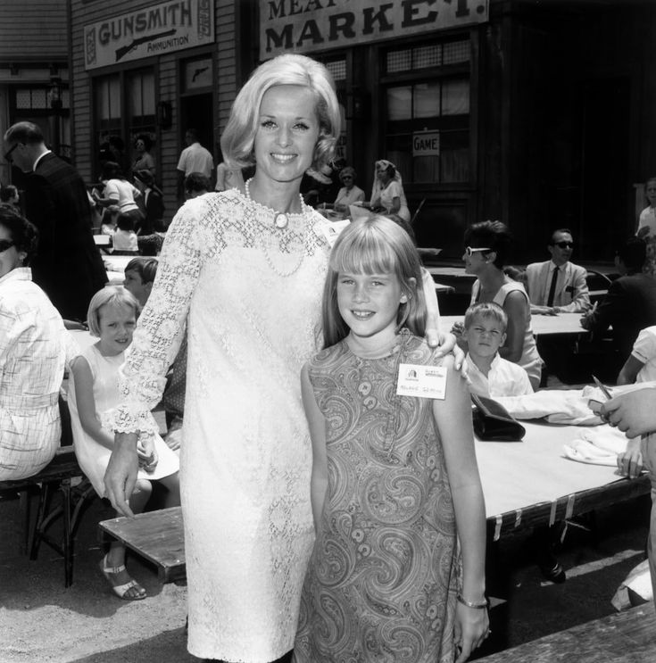 """Melanie Griffith with her mother, Tippi Hedren, who starred in Alfred Hitchcock's """"The Birds""""."""