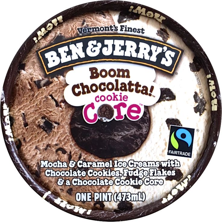 Mocha Caramel Chocolate Fudge Flakes Cookie Ben And Jerry