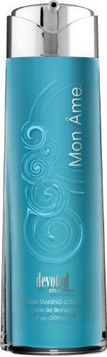 Devoted Creations Mon Ame - Dark Tanning Accelerator by Devoted Creations. $22.20. 7 oz. Matrixyl-a micro fragment of collagen that helps reduce the appearance of fine lines and wrinkles.. A breakthrough formulation produced by Devoted Creations with the strongest Scientifically proven ingredients to ensure the darkest tan.. Fragrance: Fresh Lemon Grass. Ester-C-Natural form of Vitamin C that penetrates the epidermis to help form and maintain collagen and other support structu...