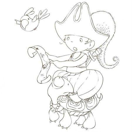 Cahier de coloriage Cap Canaille Gabin le Pirate - 80 pages - Photo n°2