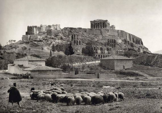Athens at the turn of the 19th century. ...Unlike the economy it has grown somewhat over time.