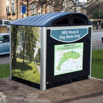 Modus™ Litter Housing can be extensively personalised. #GlasdonUK #LitterHousing #ExternalLitterBin #Personalisation