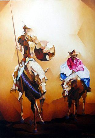 Don Quixote e Sancho Pança (110 x 80) Damião Martins