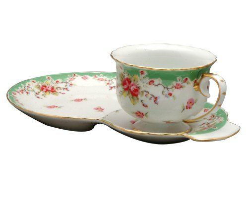 Gracie China Vintage Green Rose Porcelain 2-Piece Snack Set by Gracie China by Coastline Imports. Save 11 Off!. $13.35. Vintage green rose. Snack tray(9 by 6 by 2-3/4), cup(4-1/4 by 3-1/4 by 2-1/2). Not safe in microwave. Dishwasher safe. Material: porcelain. Gracie China's Vintage Green Rose Collection, by Coastline Imports, is lovely porcelain which can complement the kitchen, dining and living room. Vintage Green Rose, 2-Piece Snack Set, 9-Inch Tray and 4-Ounce Cup.