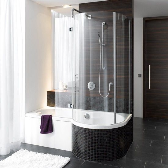 Don't have room for a shower and a bath? Now you do - with these clever designs that combine both