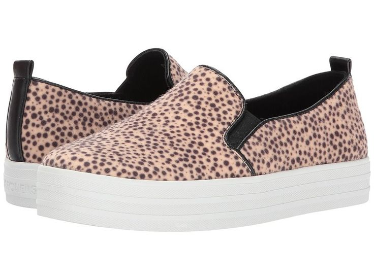 SKECHERS Double Up - Jungle Jaunt Women's Slip on Shoes Leopard