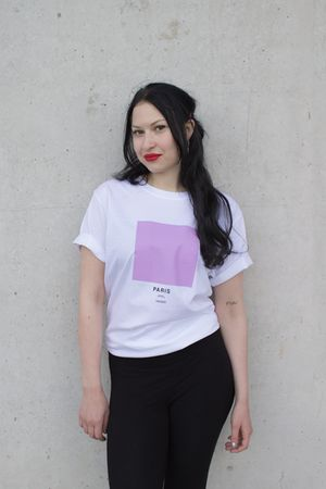 Paris - The Ci-Tee collection is based on a google search of each individual city, and each colour code is based on the most frequent colour that comes up on google when googling. It's a fun way of showcasing cities around the world through a colour instead of a flag. See more Ci-Tee shirts at amesstore.se
