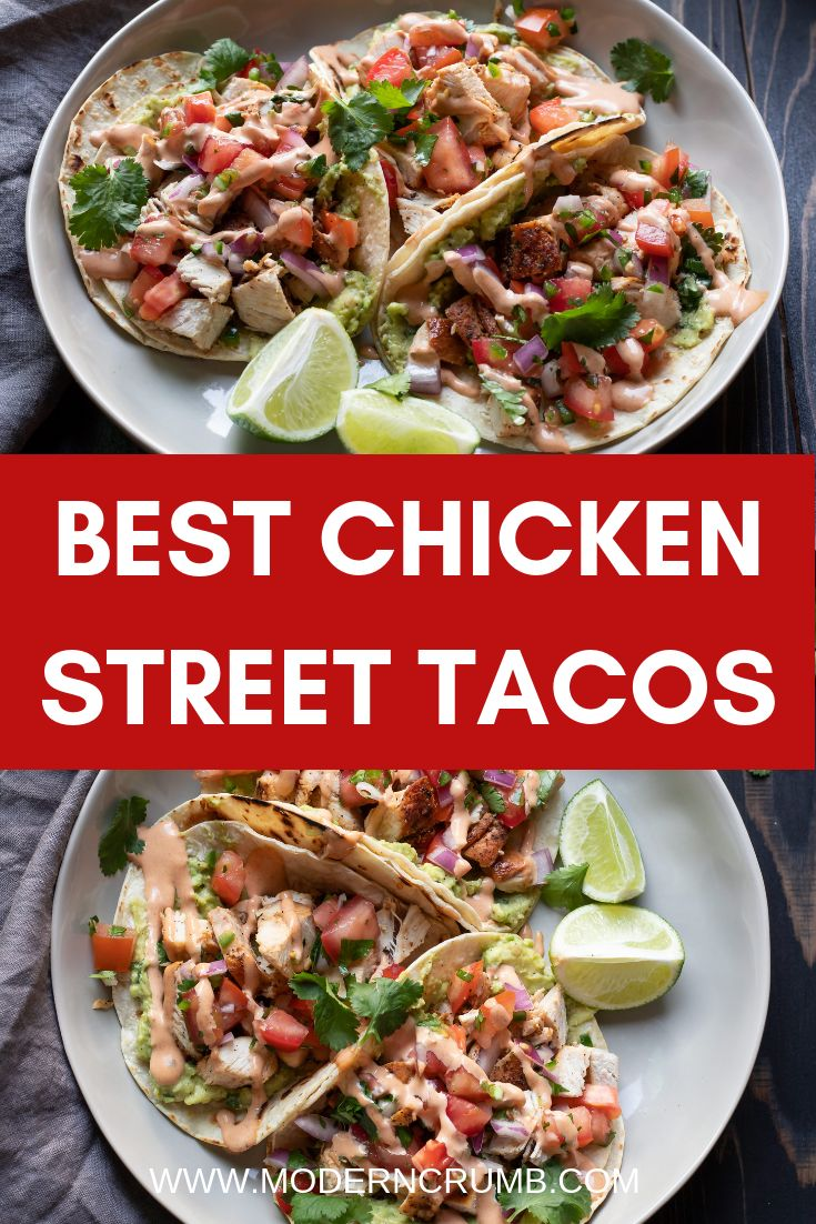 These easy chicken street tacos are sure to be a hit!  Paired with guacamole and…