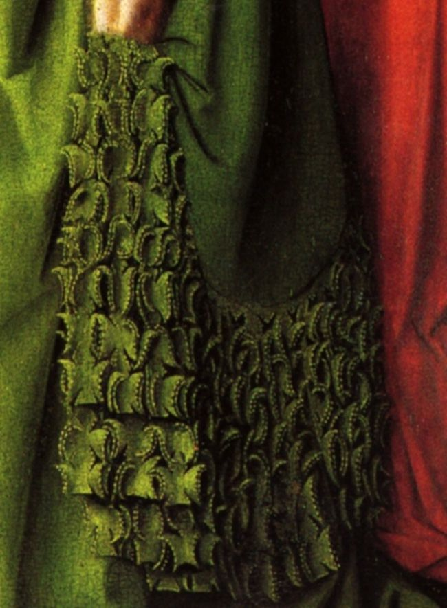 detail: Giovanni Arnolfini and His Wife Giovanna Cenami (The Arnolfini Marriage) - Jan van Eyck 1494