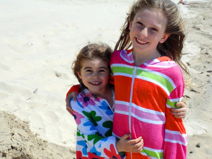 Girls Towelling Hooded Swim Robes-Great for throwing on before or after a swim. At the pool, beach or even at home after a bath. Get them at www.ejkids.com.au