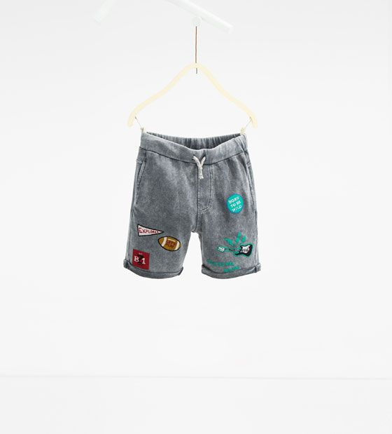 Image 1 of Patch Bermuda shorts from Zara