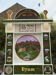 To give thanks at the well dressing in Eyam