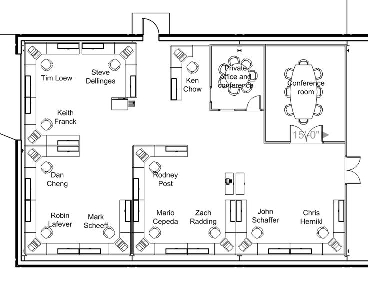 Office layout plan office design for Office layout design
