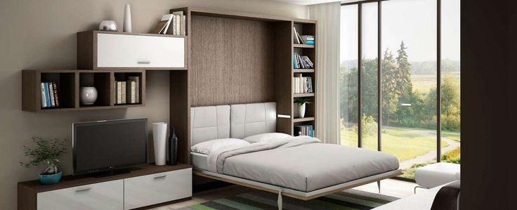 armoire lit escamotable rangements chambre Optimal