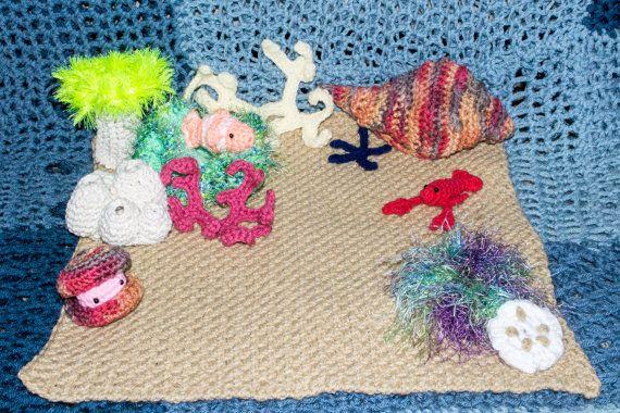 Crocheted Coral Reef Play Mat Ocean Floor by DeepRootedORiginals