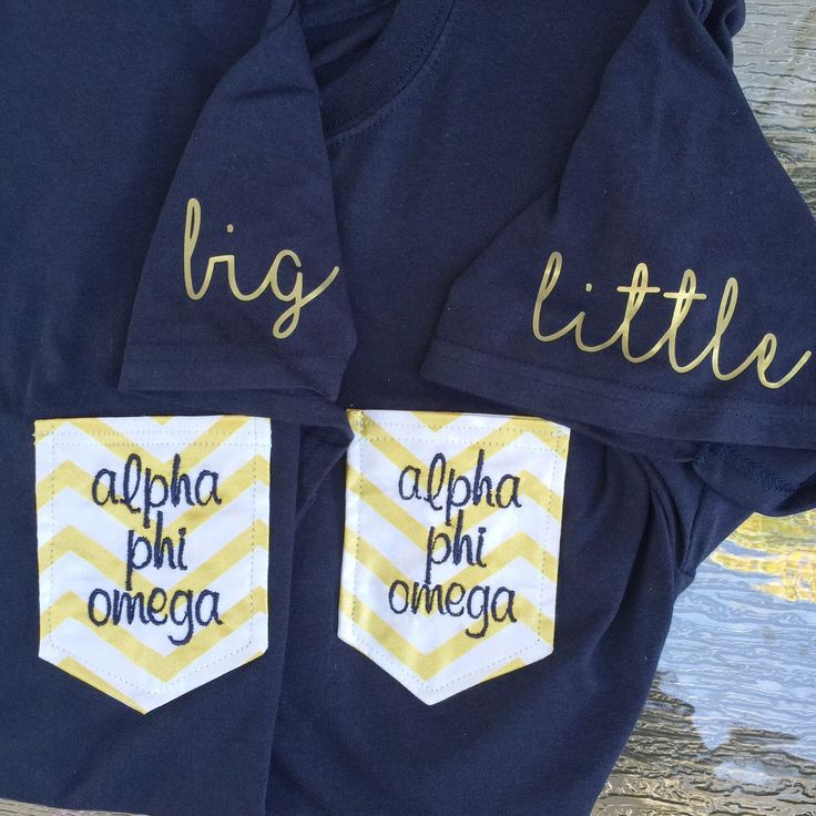 2 GREEK TEES Big & Little matching Gold and by ShopAllieAnderson