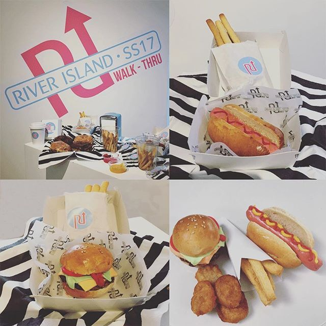 We had a great time at the River Island spring summer launch 2017. We made some sweet treats disguised as a fast food take-away.  Mind boggling, food that looks like something it's not. Chocolate Rice Krispie burgers, chocolate truffle hotdogs, dough nuggets and biscuit fries. Great day, beautiful clothes, lovely people.  Sweet treats @ #riverislandss17 @the_cake_lab_bakery  #riwalkthru #riverisland #riverislandpr #instacake #instafood #cakestagram #cake #cakeart #cakedesign #cakes #fastfood…