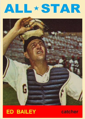 1964 Topps Ed Baily All Star. San Francisco Giants. Baseball Cards That Never Were