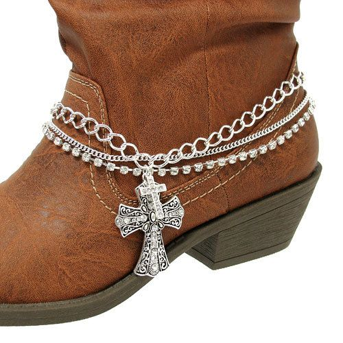 Rodeo Ready!!! Boot Bling!  >>>How cool is this?  You could go through your costume jewelry and bling your boots.  Or even check out the yard sales or any kind of second hand dealers.