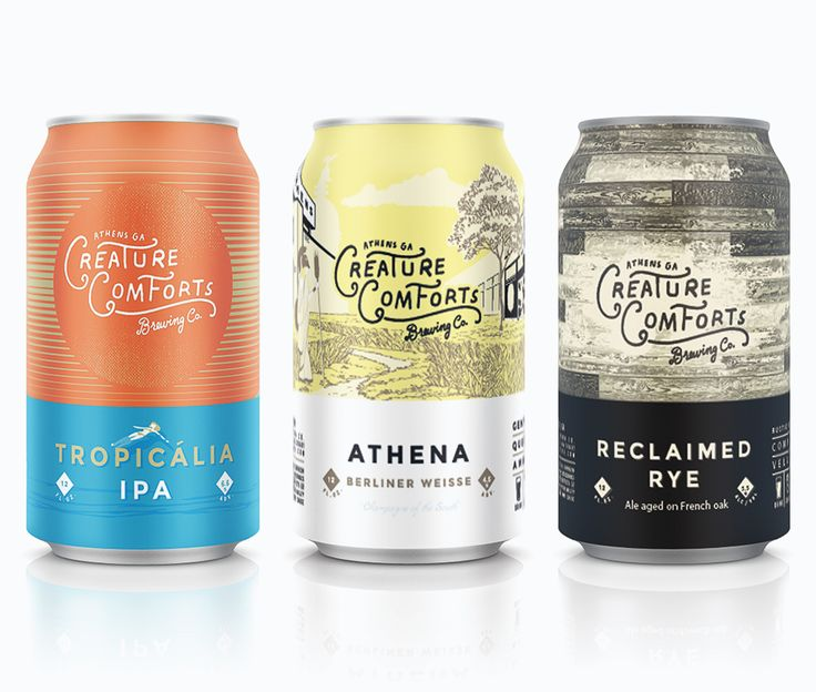 Creature Comforts Cans at Creature Brewing in Athens, GA via @ohbeautifulbeer @creaturebeer
