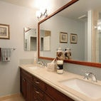 Large Framed Mirror for bath - Burgin Construction's Design, Pictures, Remodel, Decor and Ideas #mirror #bathdecor