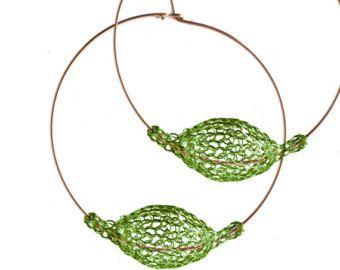 Rose gouden hoepel oorbellen extra grote hoop Earrings door Yoola