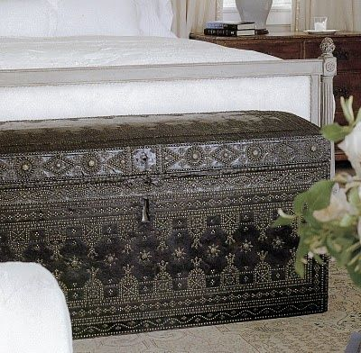 something like this chest would be great for storage but also add something to the room.