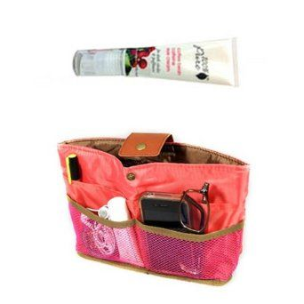 100% Pure Cosmetics - Organic Coffee Bean Caffeine Eye Cream 1oz + Ultimate Peach Handbag Organizer & Day Clutch Wrapables. $21.99