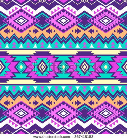 neon multicolor tribal Navajo vector seamless pattern. aztec fancy abstract geometric art print. ethnic hipster backdrop. Wallpaper, cloth design, fabric, paper, wrapping, textile design template. - stock vector