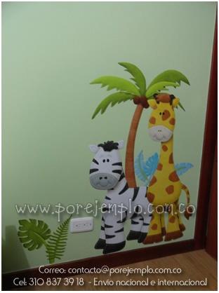 Decoración de cuarto para bebé.  Visitanos en www.porejemplo.com.co