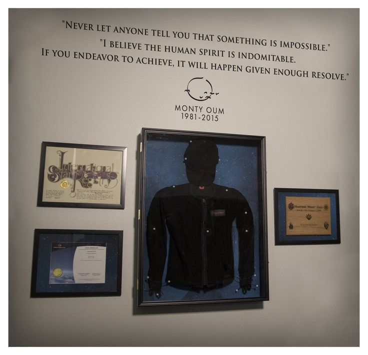 """The mocap room at rooster teeth, dedicated to Monty Oum with his star certificate (""""but your star's still in the sky""""). <3 RT wanted to give their employees an extra push of creativity and confidence <3"""