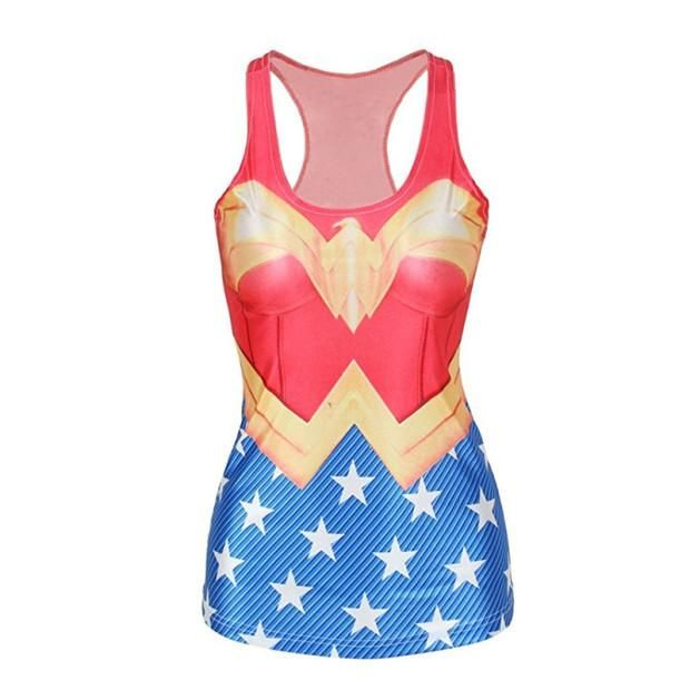 Ohio Printing Company Has Something Cool For You: Super Hero: Wonde...  Check it out right here: http://www.ohioprintingcompany.com/products/super-hero-wonder-woman-high-elastic-sleeveless-fitness-shirts-leisure-vest?utm_campaign=social_autopilot&utm_source=pin&utm_medium=pin