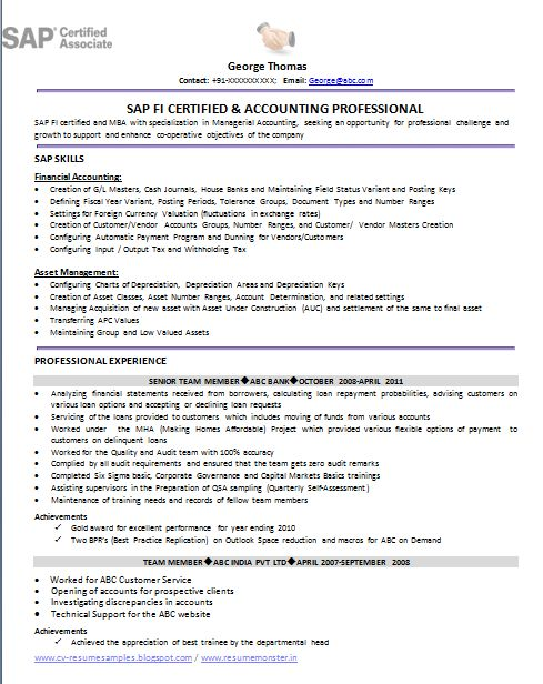 over and resume samples with free download mba adorable sample sap resumes cons dfad new abap
