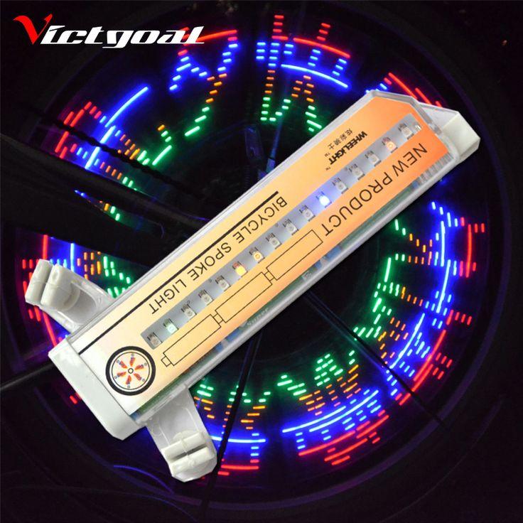 Victgoal ánh sáng bánh xe đạp diy mô hình đầy màu sắc đi xe đạp 32 đèn led tire đèn lá xe đạp leo núi phụ kiện ánh sáng h1026