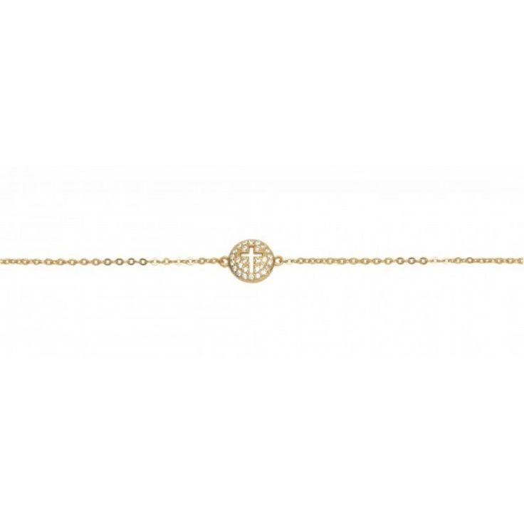 Ασημένιο βραχιόλι σταυρός – ASB925-0001
