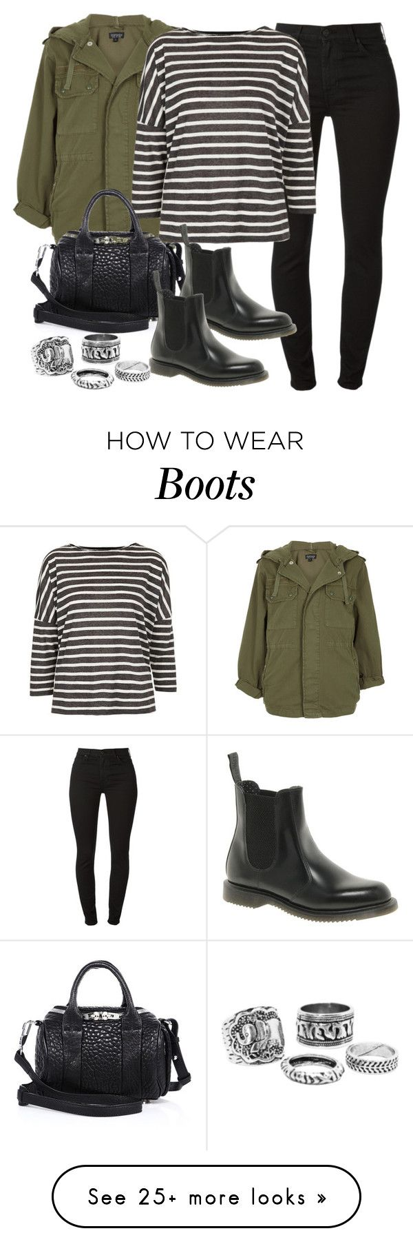 """""""Style #9266"""" by vany-alvarado on Polyvore featuring Topshop, 7 For All Mankind, Alexander Wang and Dr. Martens"""