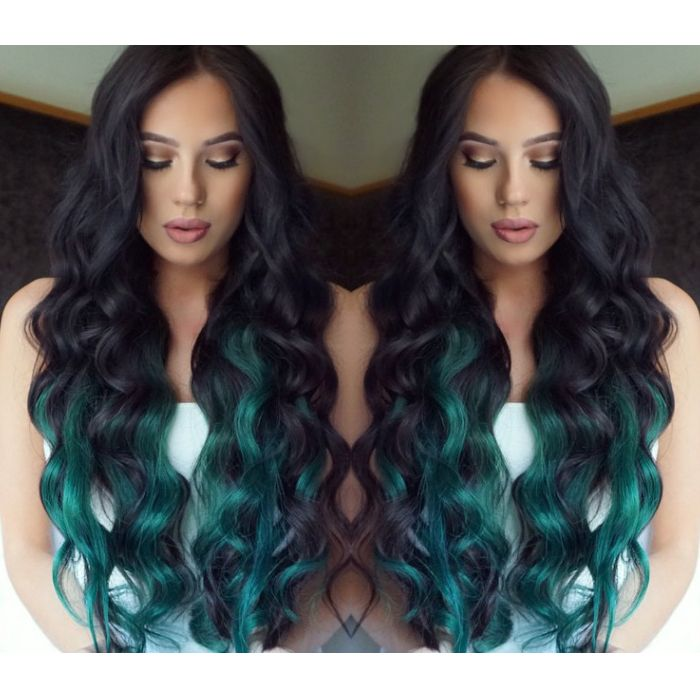 Image Result For Black And Blue Hair Styles