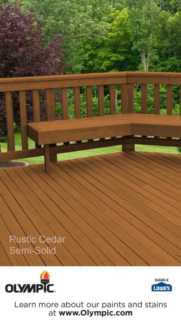 RUSTIC CEDAR Is A Part Of The Olympic Elite Colors   Semi Solid Collection  By