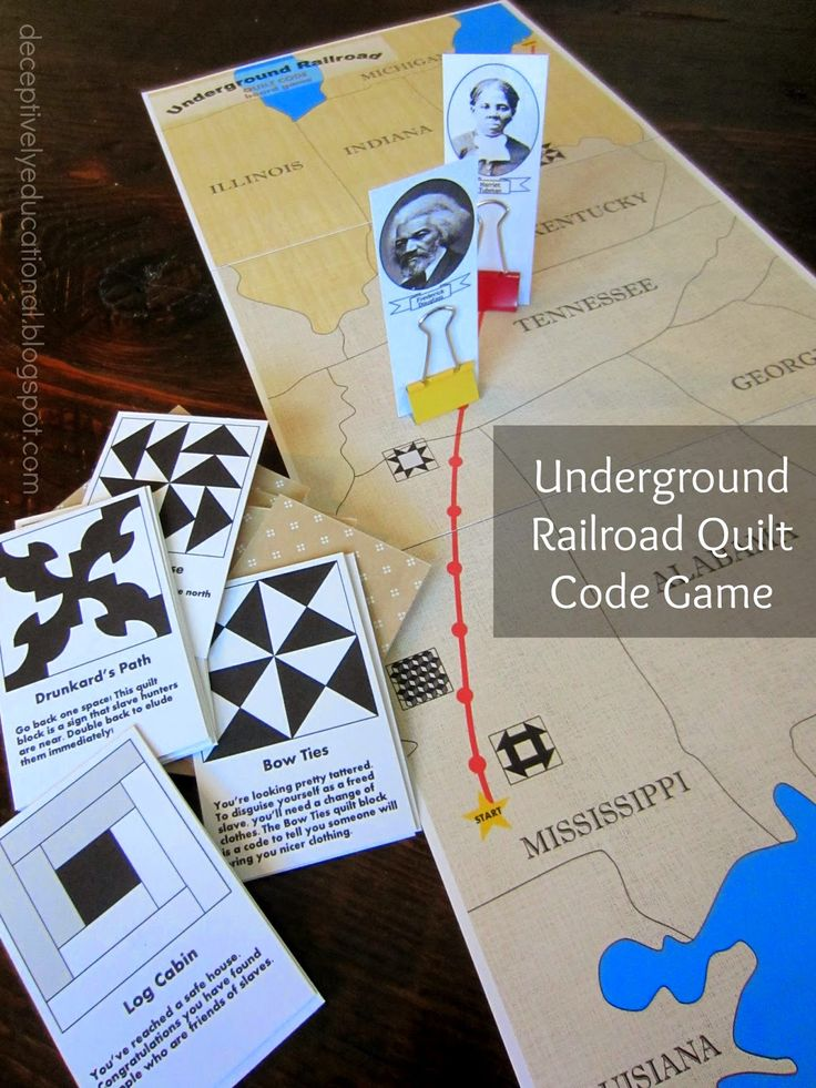 Printable Underground Railroad Quilt Code Game