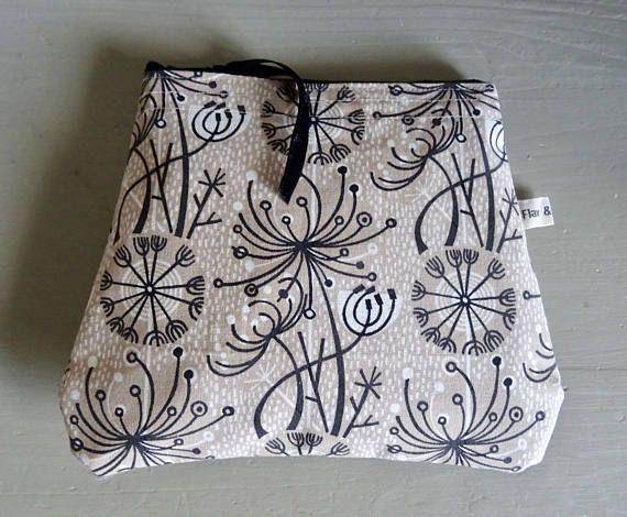 Make up Bag Angie Lewin Seed Head Design