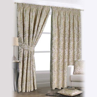 Joshua Thomas Forest Green U0027Forest Gladeu0027 Fully Lined Pencil Pleat Curtains   | Debenhams