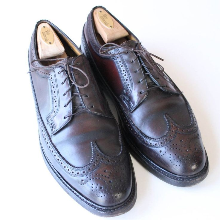 VINTAGE Florsheim Imperial Shell Cordovan Wingtip Oxford Shoes Made in USA 10D  | eBay