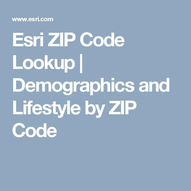 Esri ZIP Code Lookup | Demographics and Lifestyle by ZIP Code