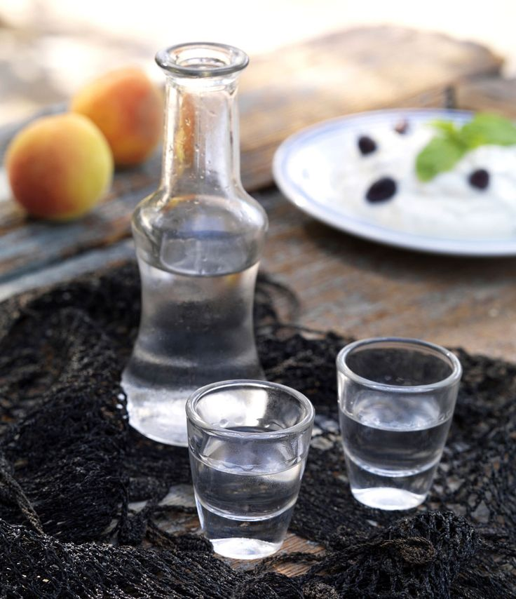 Raki or Tsikoudia, the Cretan grape-based alcoholic beverage