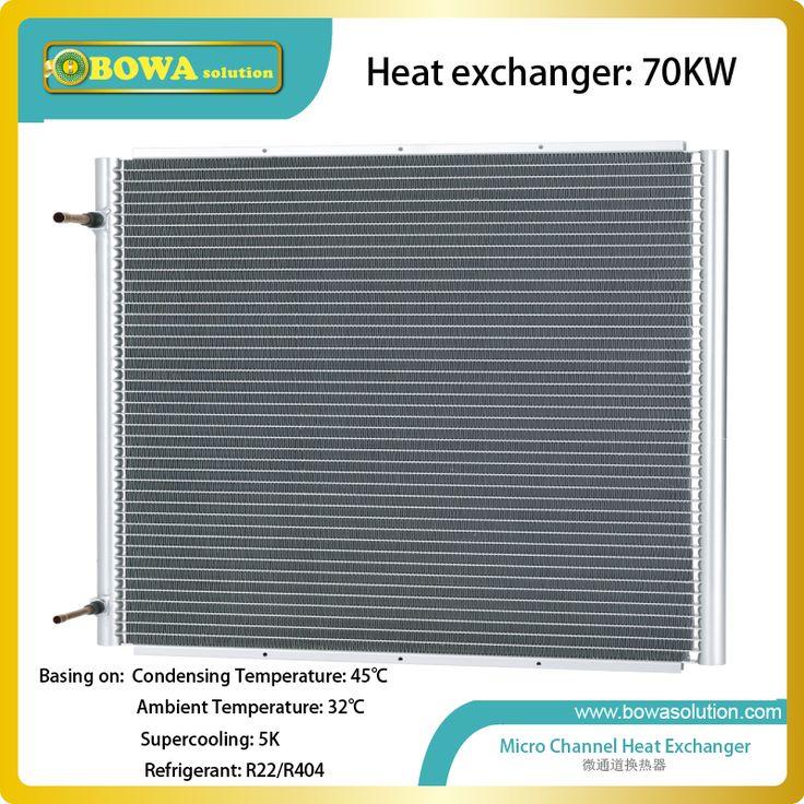 70KW V shape microchannel heat exchanger without fan work