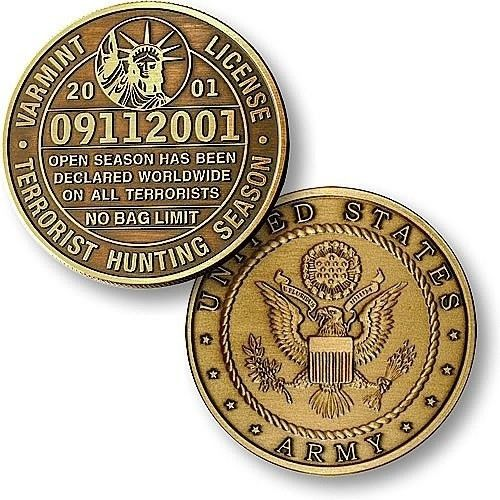 U.S. Army Varmint License Bronze Antique Coin