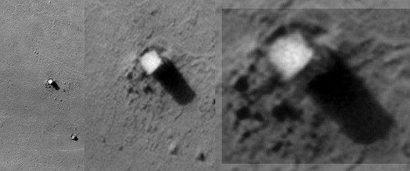 Die Obelisken des Mondes sind eine feste Gruppe von Studienstrukturen in den Fotografien von der Mondoberfläche durch die Lunar Orbiter 2 Raumschiff der Vereinigten Staaten ,den 20. November 1966 http://www.extranormal.eu